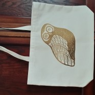 Engraving on Natural Cotton Canvas Bags